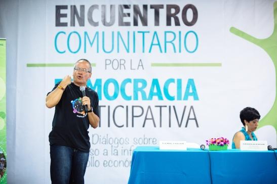 Nelson Reyes participó en el Encuentro Comunitario por la Democracia Participativa, organizado por IDEBAJO y Fundación Comunitaria.